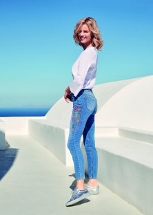 JEANS À BRODERIES / GERRY WEBER EDITION