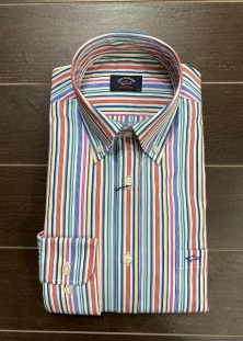 PAUL & SHARK CHEMISE À RAYURES MULTIPLES, 275$