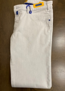 M5 BY MEYER JEANS ¨WHITE/BLUE¨, SLIM FIT STRETCH, 315$